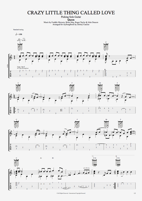 Magnificent Guitar Chords Crazy Little Thing Called Love Image ...
